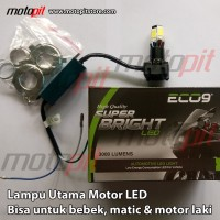 ECO9 M6 Lampu Utama Motor LUMINOS NINE9 Bebek Matic Laki AC DC