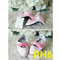 Jual Sepatu High Heels Anak Bayi Perempuan Pink Pita 0 1 Tahun Merah Putih Murah