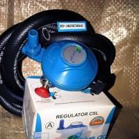 Regulator BLUEGAZ asli Selang BLUEGAZ plus Clamp Untuk Kompor Gaz