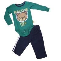Baju + Celana Bayi Laki-Laki Cowok Warna Hijau Komb Toddler T 0753 TR