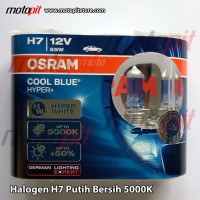 Osram Cool Blue Hyper Plus 5000K H7 55W Lampu Halogen Putih