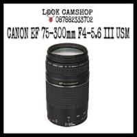 LENSA KAMERA DSLR CANON EF 75-300mm 75-300 F4-5.6 III USM ULTRASONIC