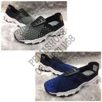 GARANSI TERMURAH Sepatu Wanita Anyaman Skechers DLites Origi T1310