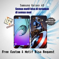 Garskin HP Samsung Galaxy A5 Motif Captain A - motif bisa request