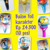 balon foil karater tongkat M/souvenir ultah