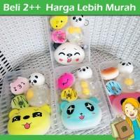 Jual Paket Squishy Box Isi 5, Squishy Panda Jumbo, Donat Kucing Splat Telur Murah