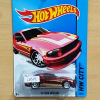 HOT WHEELS '07 FORD MUSTANG RED SUPER TREASURE HUNT 2014 #95/250