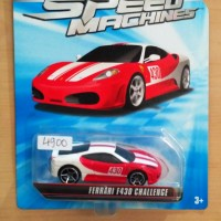 Jual HOT WHEELS FERRARI F430 CHALLENGE RED WHITE SPEED MACHINES 2010 #1/5 Murah