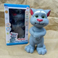 Talking & Singing Cat Bahasa Indonesia Boneka Kucing Tom Bicara Meniru