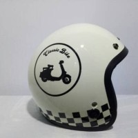 Helm retro merk Igloo - helm bogo motif classic bike since 1957