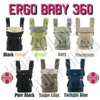 Gendongan Ergo baby 360 Pure Black Camel Green Grey Lilac Twilight