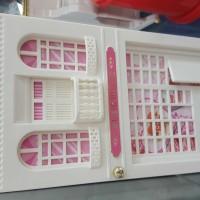 kotak musik music box house rumah lampu perhiasan cermin