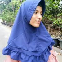 Jual instan jilbab terbaru rample 2 layer Murah
