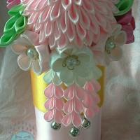 chrysanthemum kanzashi hairpin/tusuk konde geisha