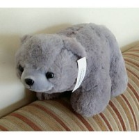 boneka beruang kutub hjj warna abu import