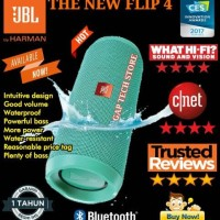 Jual NEW JBL Flip 4 / Flip4 Waterproof Portable Bluetooth Speaker Original Murah