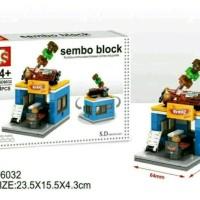 Mainan Anak Lego Sembo Block Model 3D Toko Retail Grosir - BBQ