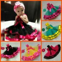 Dress tutu Baby Pita Nice+Headband Cantik Homemade