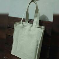 Jual Tote Bag Canvas (kanvas) kotak, 25 x 30 x 10 cm Murah