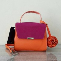 Zara Pink Orange Bag Original