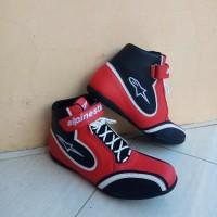 sepatu drag alpinestars merah hitam new murah berkualitas