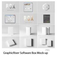 Template Mockup Desain Kemasan Packaging Software Box Design