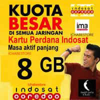 harga Kartu Perdana Indosat 8gb Data Internet Kuota 8 Gb + Banyak Bonus Tokopedia.com