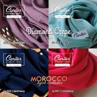 harga Grosir Pashmina Diamond Crepe Cartier Hq Termurah Morocco Hijab Tokopedia.com
