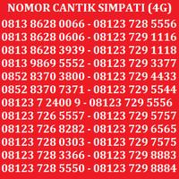 Kartu Perdana Nomor Cantik No Telkomsel XL Indosat Simpati AS