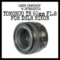 LENSA KAMERA DSLR YONGNUO YOUNGNOU YN 50mm 50 F1.8 FOR SLR NIKON