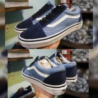 sepatu vans oldskol steel blue, vans terbaru, sneakers wanita