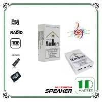 Mini Speaker Kotak Rokok Support MP3 dan Radio - Portable Music Player