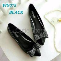 CUCI GUDANG Sepatu Wanita Flat Shoes Pita Gliter SDB79 8081990c16