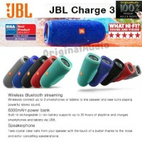 Jual JBL Charge 3 Super Bass Waterproof Bluetooth Speaker Original Murah