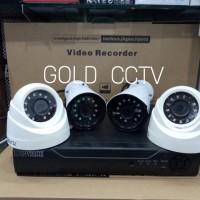PAKET CCTV 4KAMERA 3MEGAPIXEL + KABEL + ADAPTOR