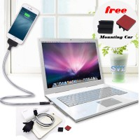 Cable Kabel Data Charger Flexible Metal Standup Docking hp - Iphone