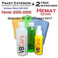 Jual Paket Salon Exterior Mobil Obat Jamur Body Kaca Nano Coating VBCare Murah