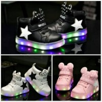 Jual Sepatu Sneakers Anak Bintang Star Mickey Adidas Import Murah Lampu LED Murah