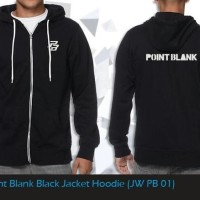 Jaket Anime Game Point Blank Casual Black Jacket Hoodie (JW PB 01)