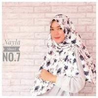 Jual Khimar Nayla Motif Bunga (Hijab Instan Wolvis / Wollpeach / Wolfis) Murah