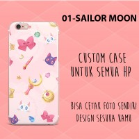 custom case sailor moon  casing case semua merk hp softcase hardacase