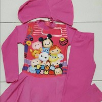 Baju Renang Muslim Anak SD Gambar( Tsum-Tsum )