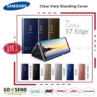 Samsung Flip Cover Clear View Stand Case for Galaxy S7 Edge