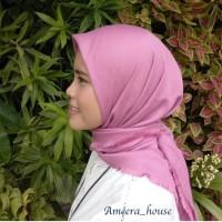 Jual jilbab impor murah Segiempat Rawis Polos Murah