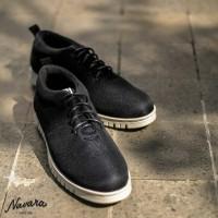 Sepatu Sneakers Pria Navara Powell Black Sepatu Pria Sepatu Casual