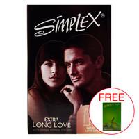 Simplex Extra Long Love 12pcs Kondom Kuat Pria
