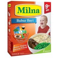 Milna Bubur Reguler 9 Bln Semur Daging Kacang Polong 120 G