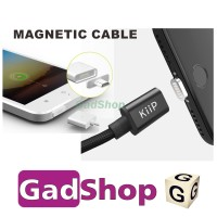 Jual Kiip Magnetic Cable for Iphone Lightning MFI and Android Braided Nylon Murah