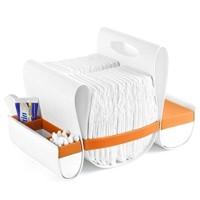 Boon B1331 Loop Diaper Caddy Orange White 813741010333