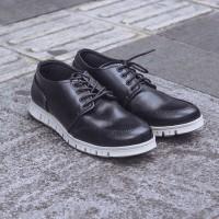 Jual Sepatu Casual Pria Navara Parker Black Sepatu Sneakers nike adidas Murah